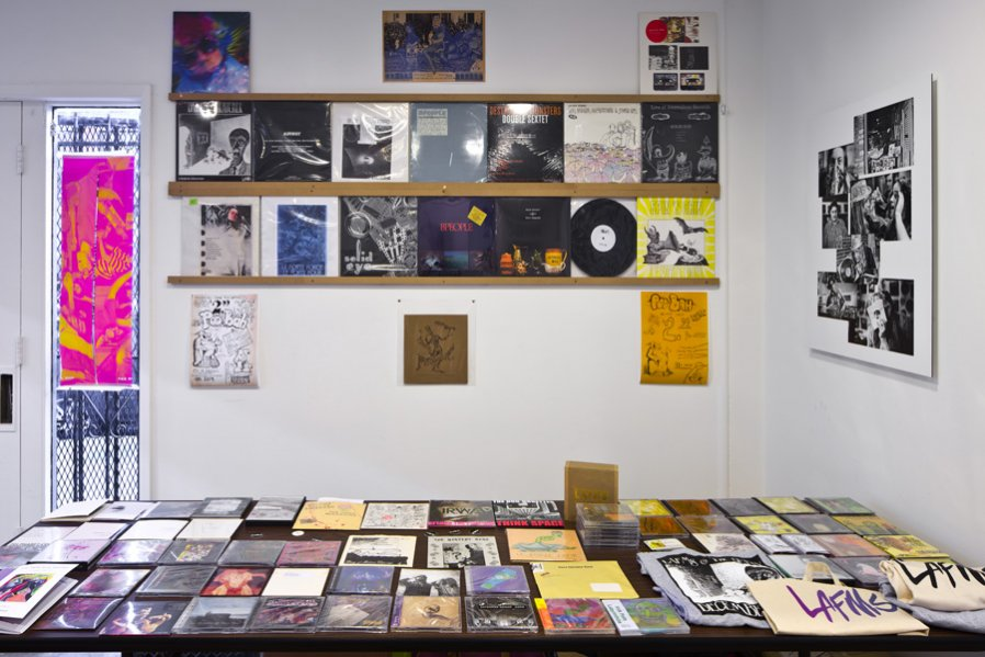 Detail of PooBah Records Pop Up store Installed during the duration of the exhibition Los Angeles Free Music Society 1972-2012: Beneath the Valley of the Lowest Form of Music 2012 Photo: Fredrik Nilsen