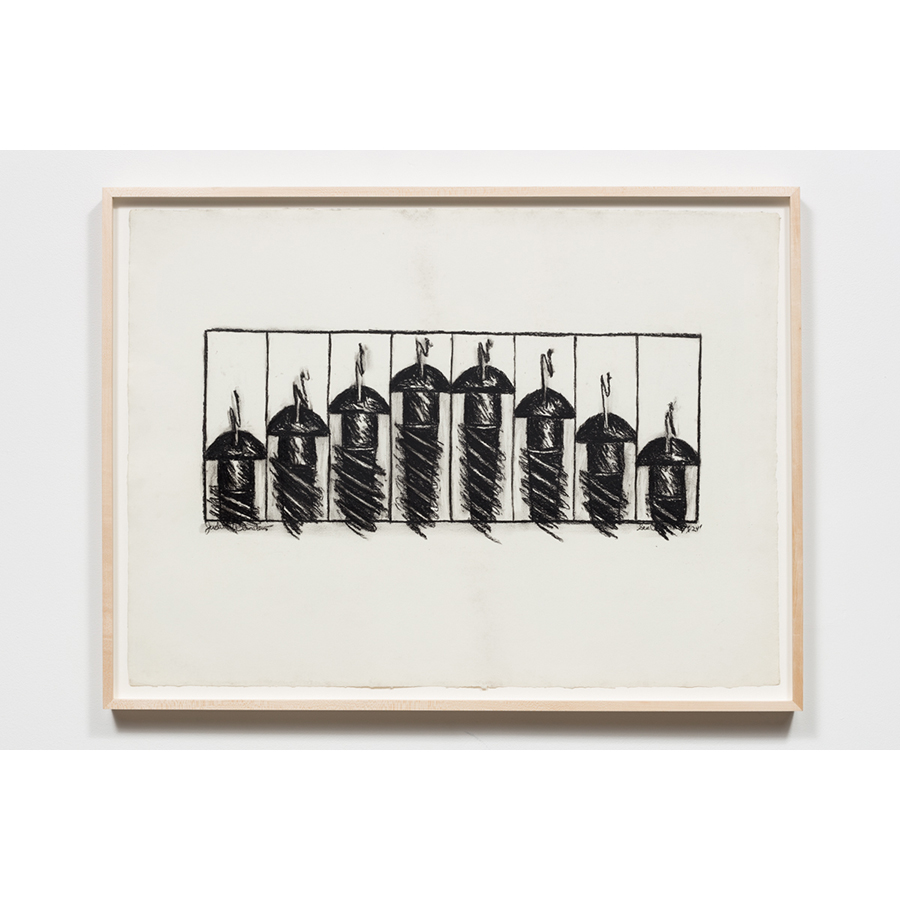 Judith Bernstein Screws, 1968 Charcoal on paper 23 1/2 x 35 inches