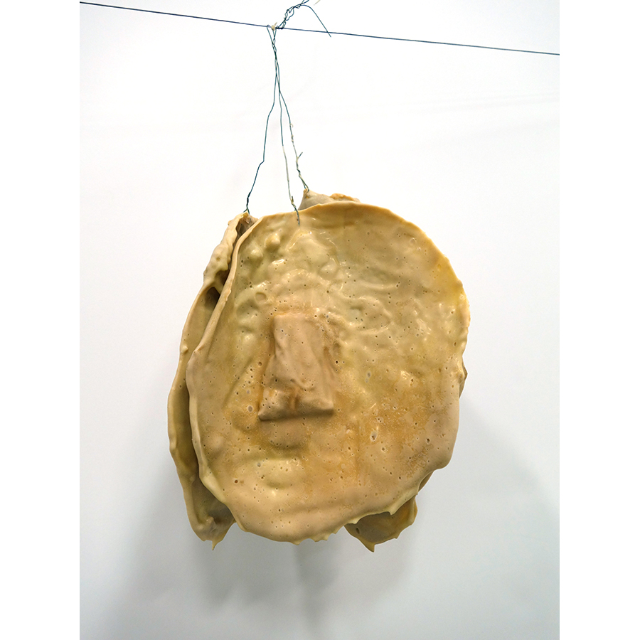Julien Bismuth, The religious quality of trees, 2021, laytex rubber, paper, tape, wire.